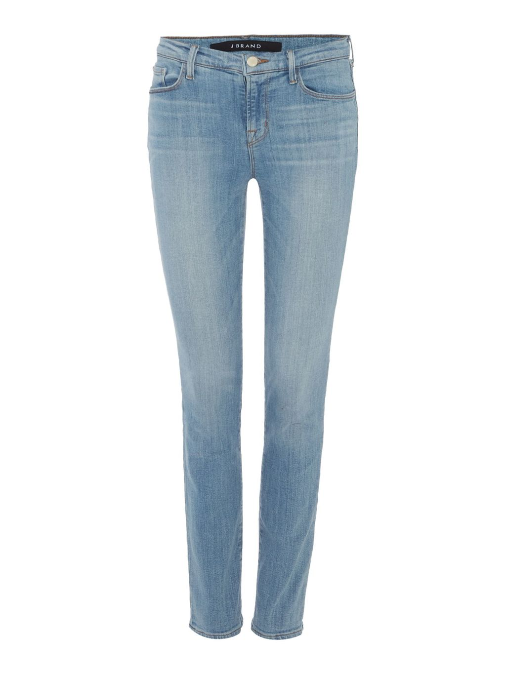 811 Mid Rise Skinny Jean, Blue - style: skinny leg; length: standard; pattern: plain; pocket detail: traditional 5 pocket; waist: mid/regular rise; predominant colour: denim; occasions: casual; fibres: cotton - stretch; jeans detail: shading down centre of thigh, washed/faded; texture group: denim; pattern type: fabric; season: s/s 2016