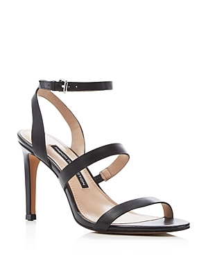 Lilly Strappy High Heel Sandals - predominant colour: black; occasions: evening; material: leather; heel height: high; ankle detail: ankle strap; heel: stiletto; toe: open toe/peeptoe; style: strappy; finish: plain; pattern: plain; season: s/s 2016; wardrobe: event