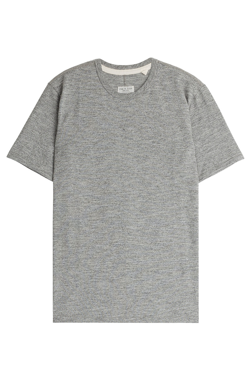 Cotton Blend T Shirt - pattern: plain; style: t-shirt; predominant colour: mid grey; occasions: casual; length: standard; fibres: cotton - mix; fit: straight cut; neckline: crew; sleeve length: short sleeve; sleeve style: standard; pattern type: fabric; texture group: jersey - stretchy/drapey; season: s/s 2016; wardrobe: basic