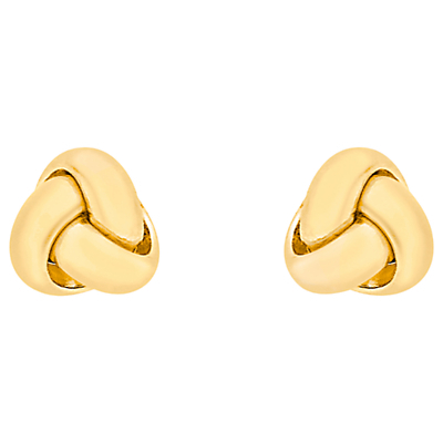 18ct Yellow Gold Knot Stud Earrings, Yellow Gold - predominant colour: gold; occasions: casual, work, creative work; style: stud; length: short; size: small/fine; material: chain/metal; fastening: pierced; finish: metallic; season: a/w 2015; wardrobe: basic