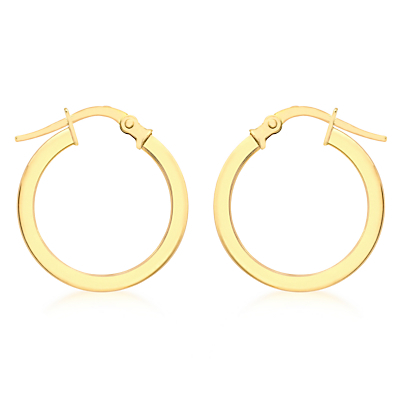 9ct Yellow Gold Creole Lever Hoop Earrings, Gold - predominant colour: gold; occasions: evening, creative work; style: hoop; length: short; size: small/fine; material: chain/metal; fastening: pierced; finish: metallic; season: a/w 2015; wardrobe: basic