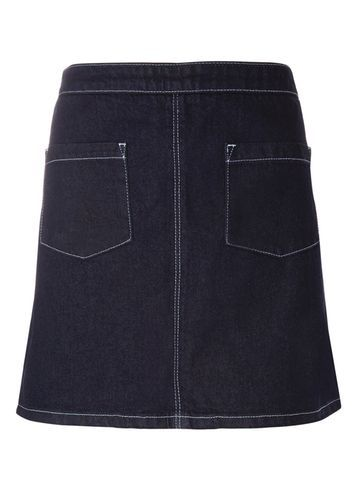 Womens Indigo Denim Mini Skirt Blue - length: mini; pattern: plain; fit: loose/voluminous; waist: high rise; predominant colour: navy; occasions: casual; style: a-line; fibres: cotton - stretch; hip detail: subtle/flattering hip detail; texture group: denim; pattern type: fabric; season: s/s 2016; wardrobe: basic