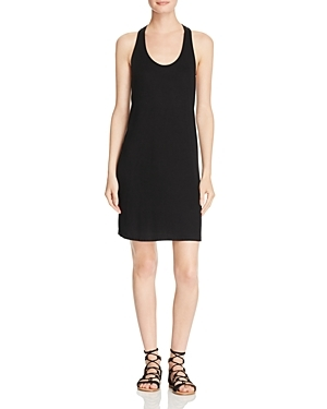 Ribbed Cross Back Dress - neckline: round neck; fit: tight; pattern: plain; sleeve style: sleeveless; style: bodycon; predominant colour: black; occasions: evening; length: just above the knee; fibres: viscose/rayon - stretch; sleeve length: sleeveless; texture group: jersey - clingy; pattern type: fabric; season: s/s 2016