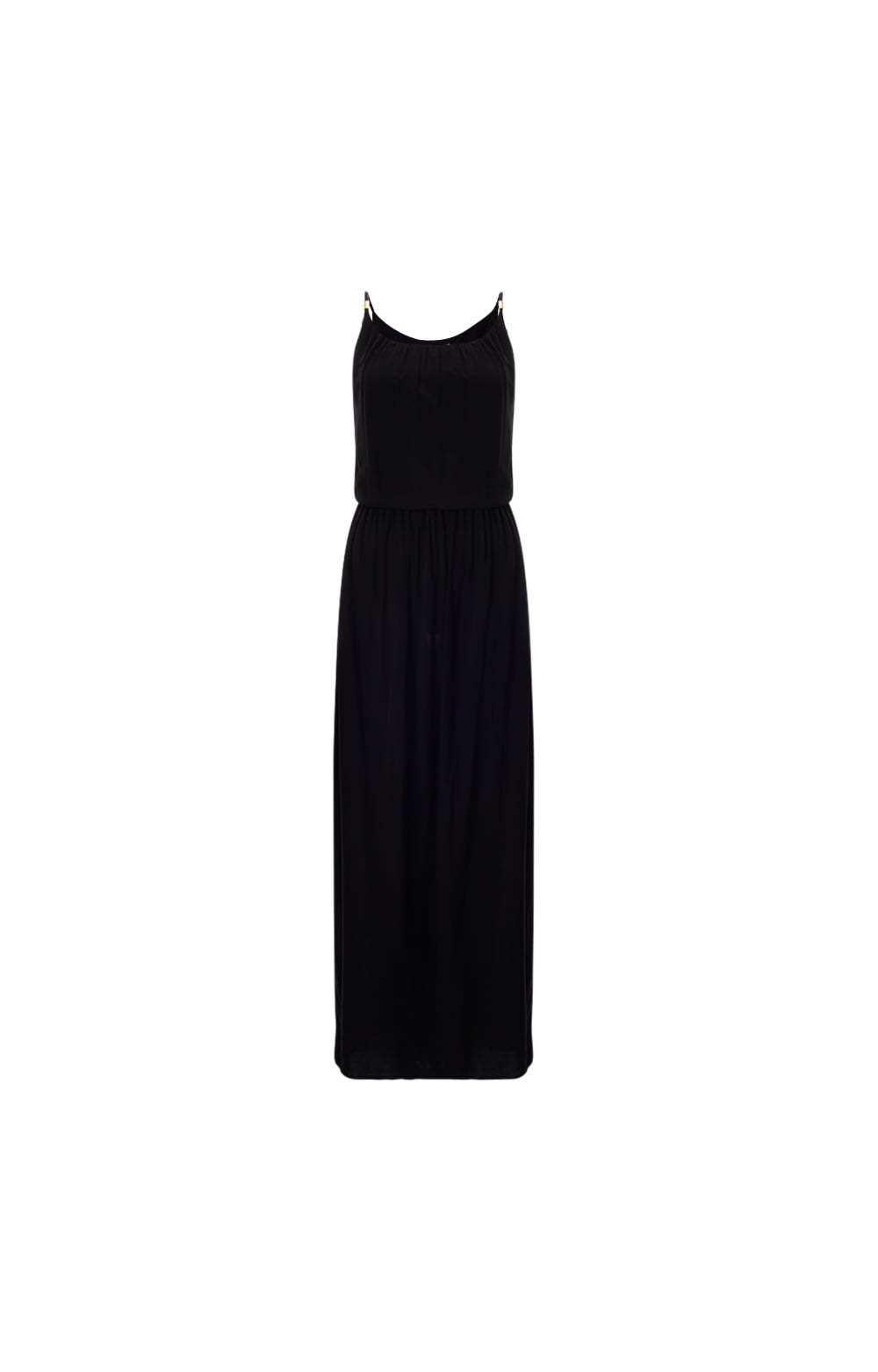 Black Bridgehampton Drop Waist Maxi Dress Size: - sleeve style: spaghetti straps; fit: fitted at waist; pattern: plain; style: maxi dress; length: ankle length; predominant colour: black; occasions: casual, holiday; neckline: scoop; fibres: cotton - stretch; sleeve length: sleeveless; pattern type: fabric; texture group: jersey - stretchy/drapey; season: s/s 2016; wardrobe: basic