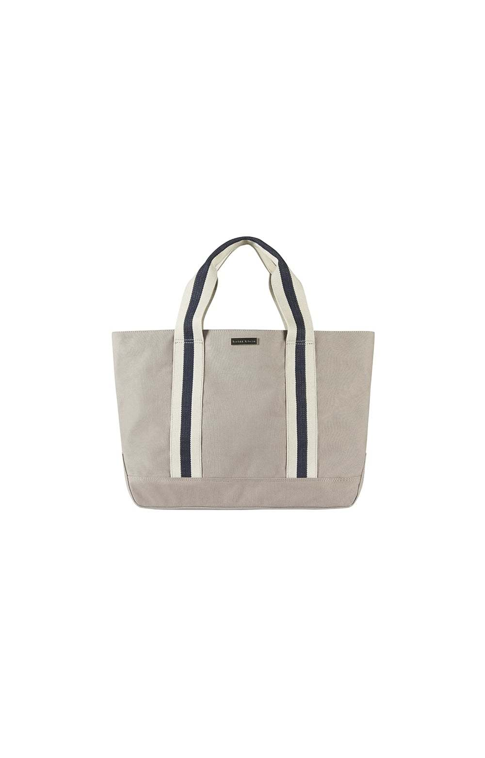 Bimini Stripe Canvas Beach Tote Navy - predominant colour: navy; secondary colour: stone; occasions: casual, holiday; type of pattern: light; style: tote; length: handle; size: oversized; material: fabric; pattern: striped; finish: plain; season: s/s 2016; wardrobe: highlight