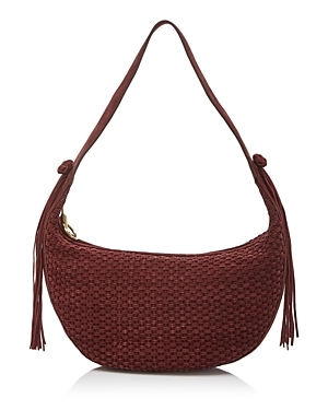 Zoe Hobo - predominant colour: burgundy; occasions: casual, creative work; type of pattern: standard; style: shoulder; length: shoulder (tucks under arm); size: standard; material: leather; pattern: plain; finish: plain; season: s/s 2016; wardrobe: highlight