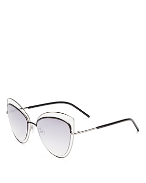 Floating Cat Eye Sunglasses, 56mm - predominant colour: silver; occasions: casual, holiday; style: cateye; size: large; material: chain/metal; pattern: plain; finish: plain; season: s/s 2016; wardrobe: basic
