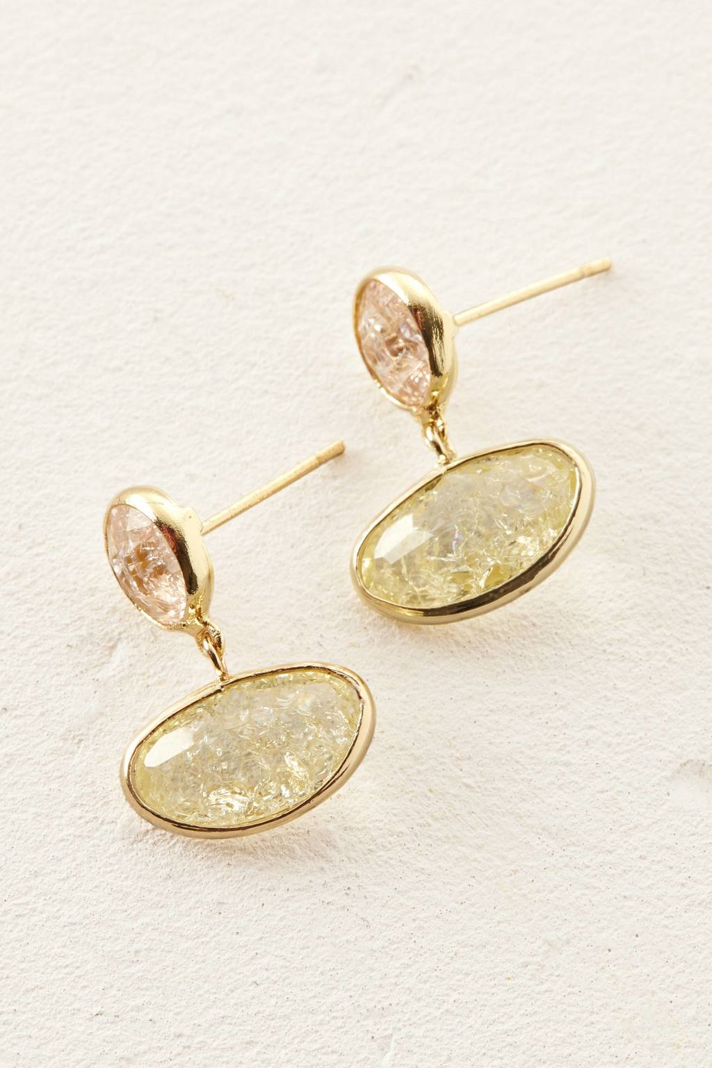 Poeme Earrings - predominant colour: gold; occasions: evening, occasion; style: drop; length: short; size: standard; material: chain/metal; fastening: pierced; finish: metallic; embellishment: jewels/stone; season: s/s 2016; wardrobe: event