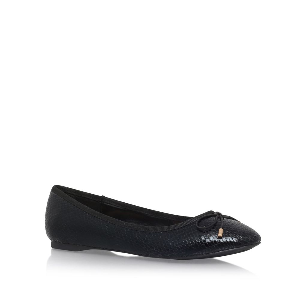 Melody2 Flat Pumps, Black - predominant colour: black; occasions: casual, creative work; material: faux leather; heel height: flat; toe: round toe; style: ballerinas / pumps; finish: plain; pattern: plain; season: s/s 2016; wardrobe: basic