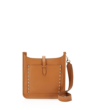 Small Unlined Feed Hobo - predominant colour: tan; occasions: casual; type of pattern: standard; style: messenger; length: across body/long; size: standard; material: leather; embellishment: studs; pattern: plain; finish: plain; season: s/s 2016; wardrobe: highlight