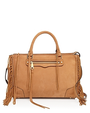 Fringe Regan Satchel - predominant colour: camel; occasions: casual; type of pattern: standard; style: tote; length: handle; size: standard; material: leather; embellishment: tassels; pattern: plain; finish: plain; season: s/s 2016; wardrobe: investment