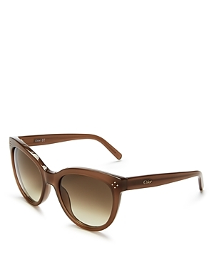 Boxwood Cat Eye Sunglasses, 54mm - predominant colour: chocolate brown; occasions: casual, holiday; style: cateye; size: standard; material: plastic/rubber; pattern: plain; finish: plain; season: s/s 2016