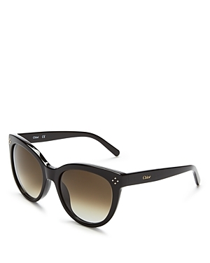 Boxwood Cat Eye Sunglasses, 54mm - predominant colour: black; occasions: casual, holiday; style: cateye; size: standard; material: plastic/rubber; pattern: plain; finish: plain; season: s/s 2016; wardrobe: basic