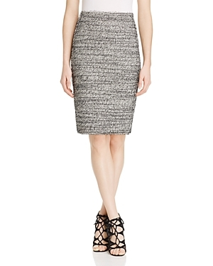 Stretch Tweed Pencil Skirt - pattern: plain; style: pencil; fit: tailored/fitted; waist: mid/regular rise; predominant colour: mid grey; occasions: evening; length: on the knee; fibres: cotton - stretch; pattern type: fabric; texture group: tweed - light/midweight; season: s/s 2016; wardrobe: event