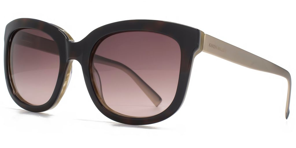 26 Kmp004 Dark Tort Square Sunglasses - predominant colour: black; occasions: casual, holiday; style: square; size: large; material: plastic/rubber; pattern: plain; finish: plain; season: s/s 2016; wardrobe: basic