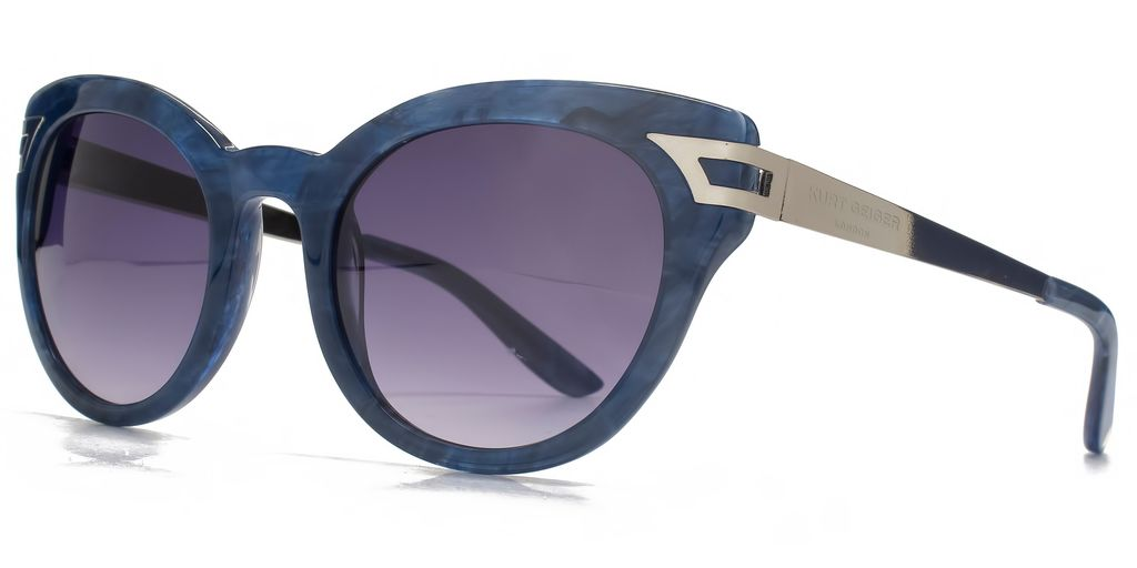 26 Kgp004 Blue Cateye Sunglasses - predominant colour: royal blue; occasions: casual, holiday; style: round; size: large; material: plastic/rubber; pattern: plain; finish: plain; season: s/s 2016; wardrobe: highlight