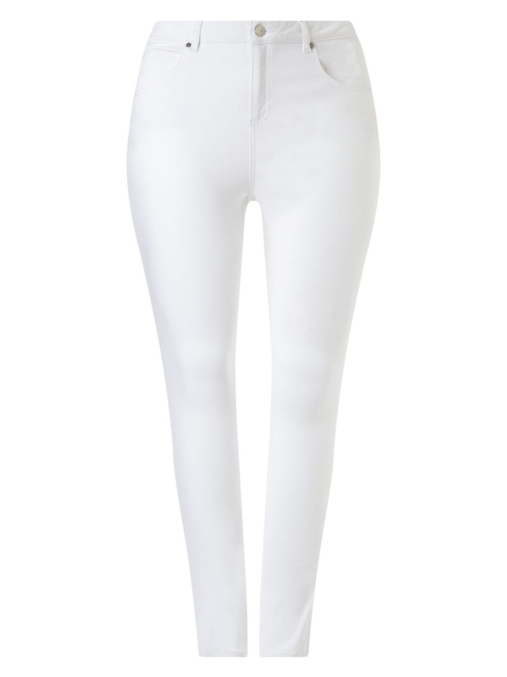 Janice Jeans, White - style: skinny leg; length: standard; pattern: plain; pocket detail: traditional 5 pocket; waist: mid/regular rise; predominant colour: white; occasions: casual; fibres: cotton - stretch; texture group: denim; pattern type: fabric; season: s/s 2016; wardrobe: highlight