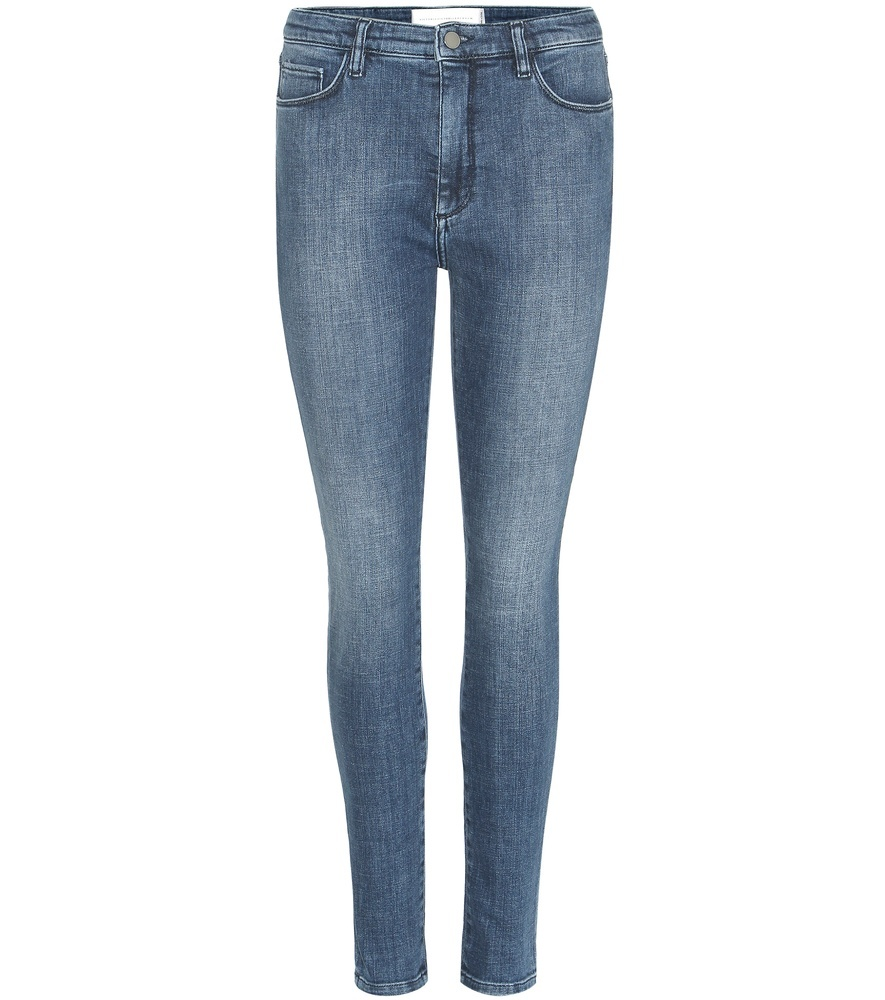 Power High Skinny Jeans - style: skinny leg; length: standard; pattern: plain; waist: high rise; predominant colour: denim; occasions: casual, creative work; fibres: cotton - stretch; texture group: denim; pattern type: fabric; season: s/s 2016; wardrobe: basic