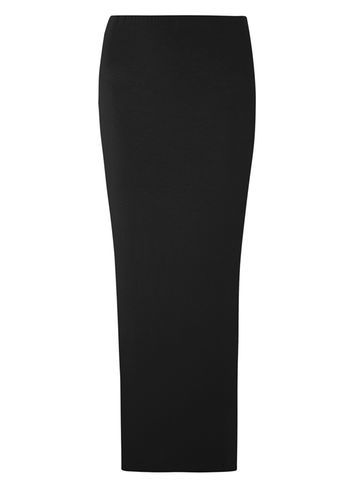 Womens **Tall Black Hiwaisted Tube Skirt Black - pattern: plain; length: ankle length; fit: tight; waist: mid/regular rise; predominant colour: black; occasions: evening; fibres: viscose/rayon - stretch; style: tube; texture group: jersey - clingy; pattern type: fabric; season: s/s 2016; wardrobe: event