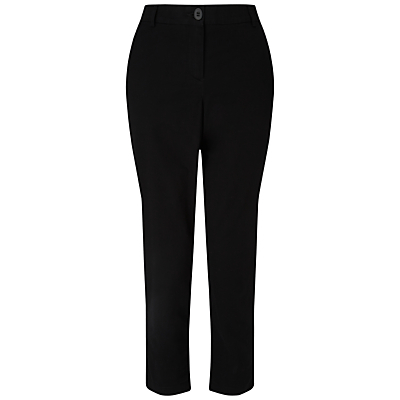 Chinos - length: standard; pattern: plain; waist: high rise; predominant colour: black; occasions: casual, creative work; fibres: cotton - 100%; texture group: cotton feel fabrics; fit: slim leg; pattern type: fabric; style: standard; season: s/s 2016; wardrobe: basic