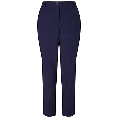 Chinos - length: standard; pattern: plain; waist: high rise; predominant colour: navy; occasions: work, creative work; fibres: cotton - 100%; texture group: cotton feel fabrics; fit: slim leg; pattern type: fabric; style: standard; season: s/s 2016; wardrobe: basic