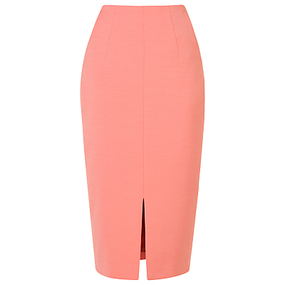 Codie High Waisted Pencil Skirt - length: below the knee; pattern: plain; style: pencil; fit: tailored/fitted; waist: high rise; hip detail: draws attention to hips; predominant colour: pink; fibres: polyester/polyamide - stretch; occasions: occasion, creative work; pattern type: fabric; texture group: woven light midweight; season: s/s 2016; wardrobe: highlight