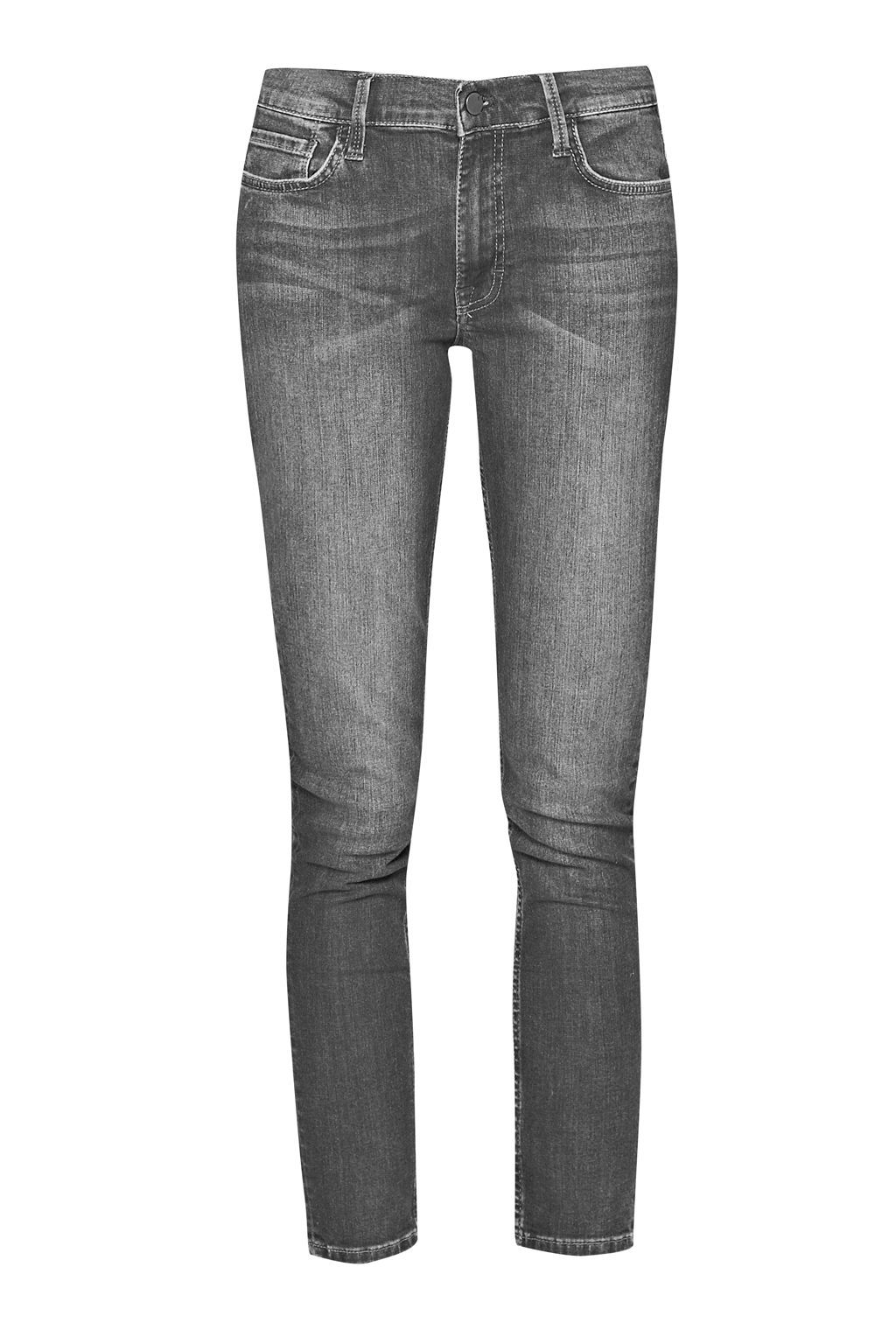 Skinny Stretch Rebound Denim, Charcoal - style: skinny leg; length: standard; pattern: plain; pocket detail: traditional 5 pocket; waist: mid/regular rise; predominant colour: charcoal; occasions: casual; fibres: cotton - stretch; jeans detail: whiskering, washed/faded; texture group: denim; pattern type: fabric; season: s/s 2016; wardrobe: highlight