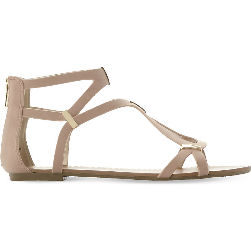 Junyaa Gladiator Sandals, Women's, Size: Eur 39 / 6 Uk Women, Blush Synthetic - predominant colour: nude; occasions: casual, holiday; material: leather; heel height: flat; ankle detail: ankle strap; heel: standard; toe: open toe/peeptoe; style: gladiators; finish: plain; pattern: plain; season: s/s 2016; wardrobe: basic