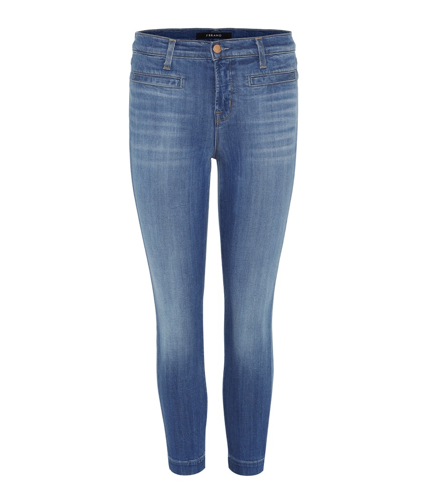 Skyla Mid Rise Capri - style: skinny leg; pattern: plain; pocket detail: traditional 5 pocket; waist: mid/regular rise; predominant colour: denim; occasions: casual; length: calf length; fibres: cotton - stretch; jeans detail: whiskering; texture group: denim; pattern type: fabric; season: s/s 2016; wardrobe: basic