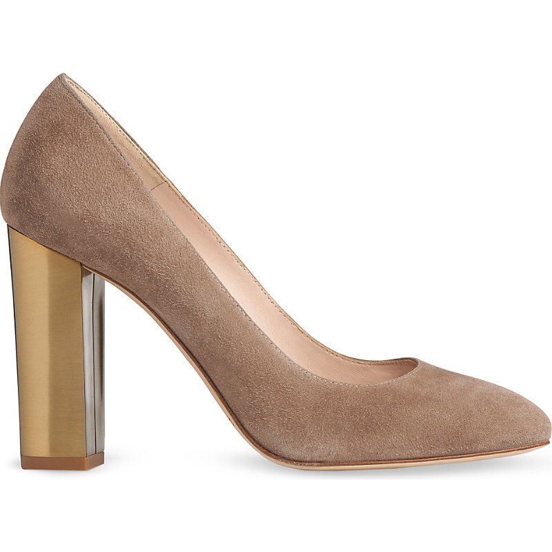 Manila Suede Courts, Women's, Eur 39 / 6 Uk Women, Bro Latte - predominant colour: taupe; occasions: evening, occasion; material: suede; heel height: high; heel: standard; toe: round toe; style: courts; finish: plain; pattern: plain; season: s/s 2016