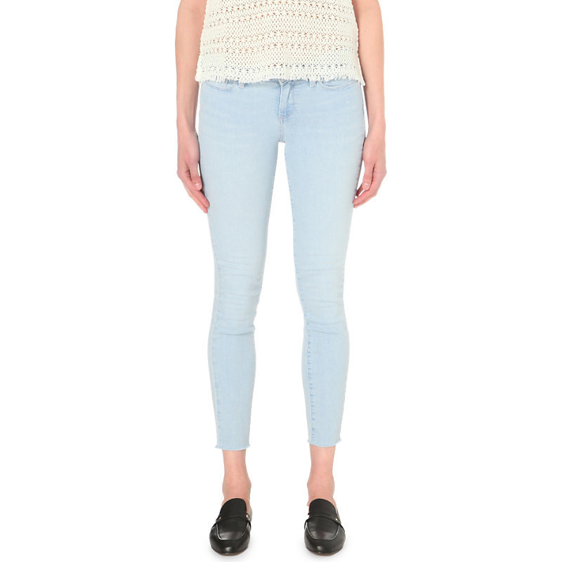 Verdugo Ankle Ultra Skinny Mid Rise Jeans, Women's, Noelly - style: skinny leg; pattern: plain; pocket detail: traditional 5 pocket; waist: mid/regular rise; predominant colour: pale blue; occasions: casual; length: ankle length; fibres: cotton - stretch; jeans detail: washed/faded; texture group: denim; pattern type: fabric; season: s/s 2016; wardrobe: basic