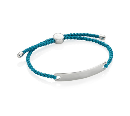 Havana Men's Friendship Bracelet Mallard Blue - predominant colour: turquoise; secondary colour: silver; occasions: casual, creative work; style: friendship/tie; size: standard; material: fabric/cotton; finish: plain; embellishment: chain/metal; season: s/s 2016; wardrobe: highlight