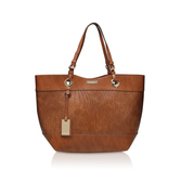 Lucinda Weaved Shopper - predominant colour: tan; occasions: casual, creative work; type of pattern: standard; style: tote; length: shoulder (tucks under arm); size: standard; material: faux leather; pattern: plain; finish: plain; season: s/s 2016; wardrobe: highlight