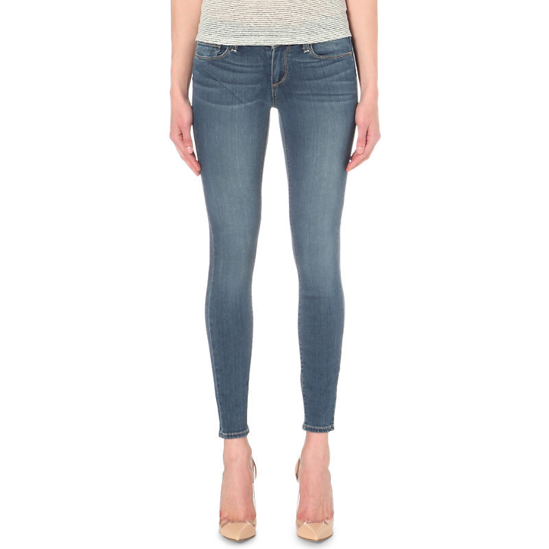 Verdugo Ultra Skinny Mid Rise Jeans, Women's, Tristan - style: skinny leg; length: standard; pattern: plain; pocket detail: traditional 5 pocket; waist: mid/regular rise; predominant colour: denim; occasions: casual; fibres: cotton - stretch; jeans detail: whiskering, shading down centre of thigh; texture group: denim; pattern type: fabric; season: s/s 2016; wardrobe: basic