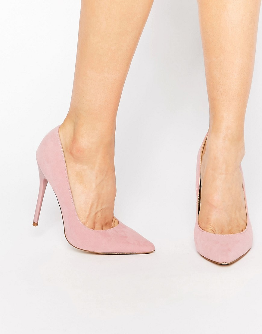 Josie Pink Court Shoes Pink Mf - predominant colour: blush; occasions: evening; material: suede; heel height: high; heel: stiletto; toe: pointed toe; style: courts; finish: plain; pattern: plain; season: s/s 2016; wardrobe: event
