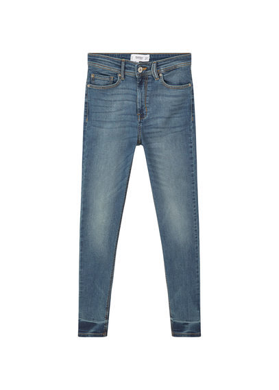 Soho Skinny Jeans - style: skinny leg; length: standard; pattern: plain; pocket detail: traditional 5 pocket; waist: mid/regular rise; predominant colour: denim; occasions: casual; fibres: cotton - stretch; jeans detail: whiskering, washed/faded; texture group: denim; pattern type: fabric; season: s/s 2016