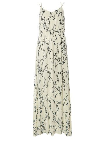 Womens **Vero Moda F Loral Maxi Dress Multi Colour - neckline: v-neck; sleeve style: spaghetti straps; style: maxi dress; length: ankle length; predominant colour: ivory/cream; secondary colour: charcoal; occasions: evening, holiday; fit: body skimming; fibres: polyester/polyamide - 100%; sleeve length: sleeveless; pattern type: fabric; pattern: patterned/print; texture group: other - light to midweight; multicoloured: multicoloured; season: s/s 2016; wardrobe: highlight