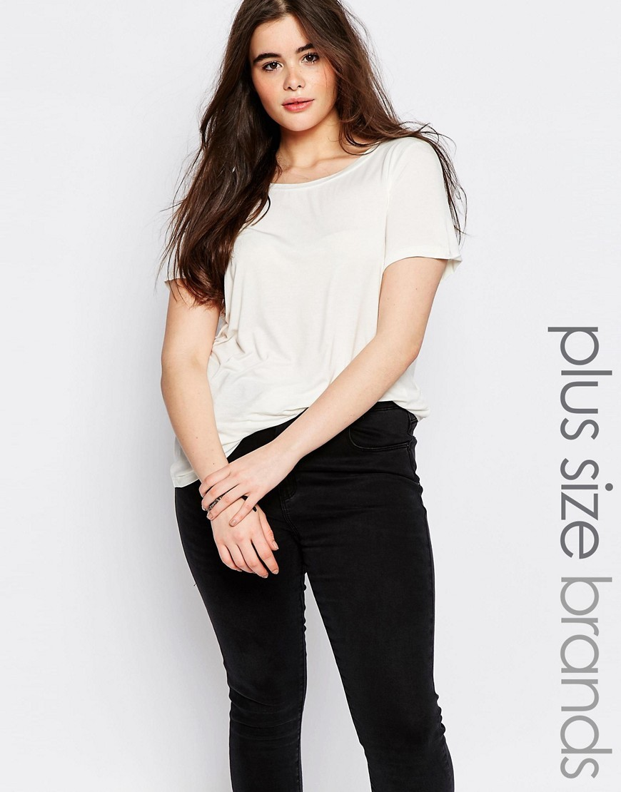 Short Sleeve T Shirt White - pattern: plain; style: t-shirt; predominant colour: white; occasions: casual; length: standard; fibres: viscose/rayon - stretch; fit: body skimming; neckline: crew; sleeve length: short sleeve; sleeve style: standard; pattern type: fabric; texture group: jersey - stretchy/drapey; season: s/s 2016; wardrobe: basic