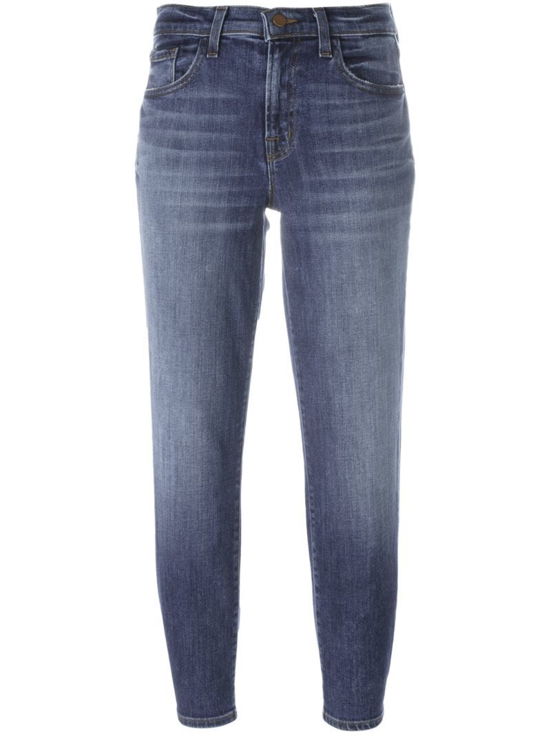 Boyfriend Jeans, Women's, Blue - style: boyfriend; length: standard; pattern: plain; pocket detail: traditional 5 pocket; waist: mid/regular rise; predominant colour: denim; occasions: casual, creative work; fibres: cotton - stretch; jeans detail: whiskering, shading down centre of thigh; texture group: denim; pattern type: fabric; season: s/s 2016; wardrobe: basic