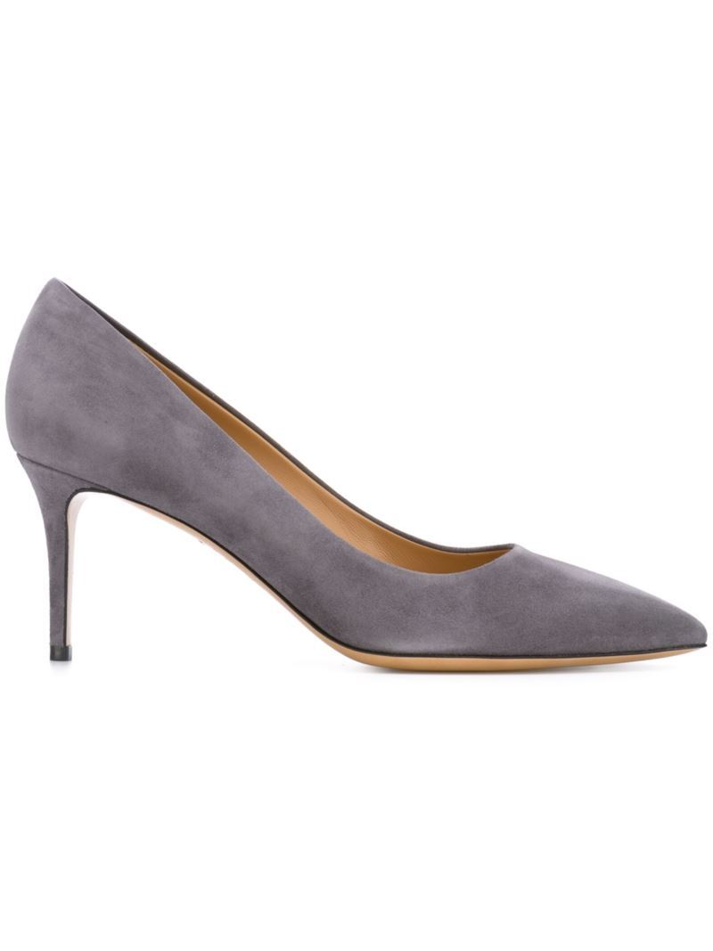 'susi' Pumps, Women's, Size: 7.5, Grey - predominant colour: mid grey; occasions: evening, occasion, creative work; material: suede; heel height: high; heel: stiletto; toe: pointed toe; style: courts; finish: plain; pattern: plain; season: s/s 2016; wardrobe: investment