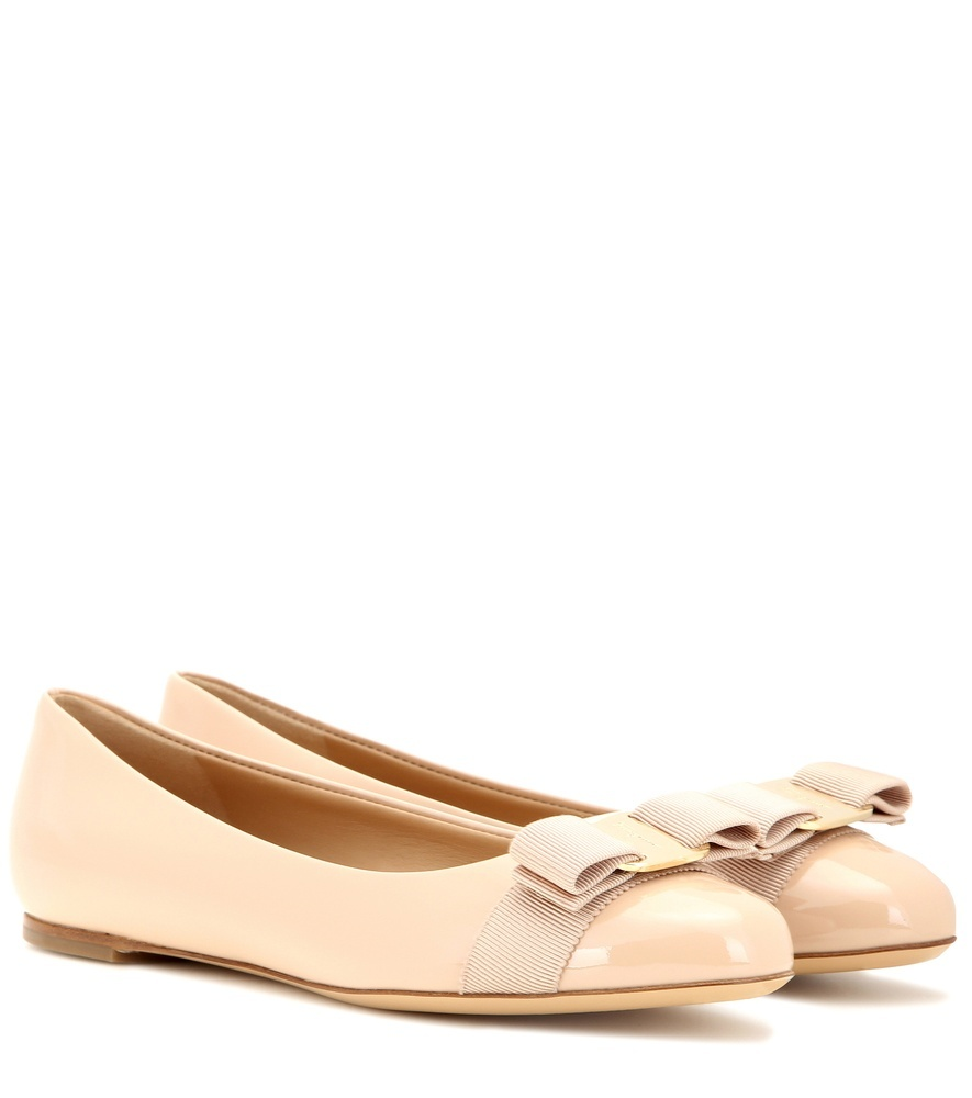 Varina Patent Leather Ballerinas - predominant colour: nude; occasions: casual, creative work; material: leather; heel height: flat; toe: round toe; style: ballerinas / pumps; finish: plain; pattern: plain; season: s/s 2016; wardrobe: basic