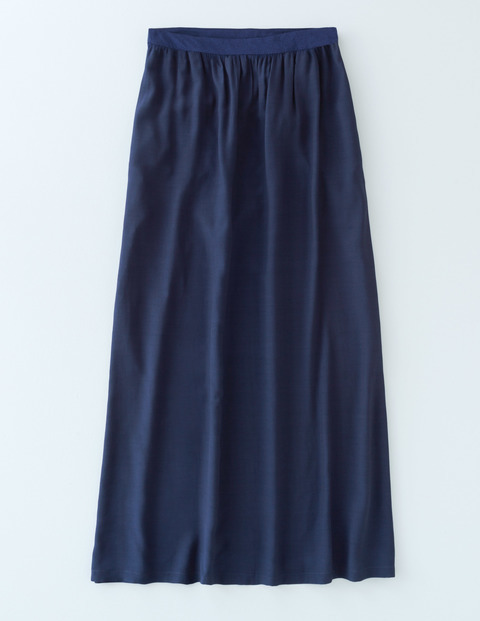 Juliette Maxi Skirt Navy Women, Navy - pattern: plain; length: ankle length; fit: body skimming; waist: mid/regular rise; predominant colour: navy; occasions: casual; style: maxi skirt; fibres: viscose/rayon - 100%; pattern type: fabric; texture group: jersey - stretchy/drapey; season: s/s 2016; wardrobe: basic