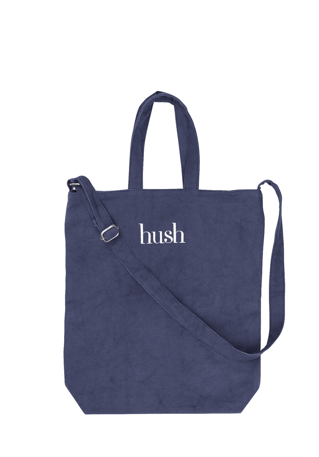 Canvas Shopper - secondary colour: white; predominant colour: navy; occasions: casual; type of pattern: light; style: tote; length: handle; size: standard; material: fabric; finish: plain; pattern: patterned/print; season: s/s 2016; wardrobe: highlight
