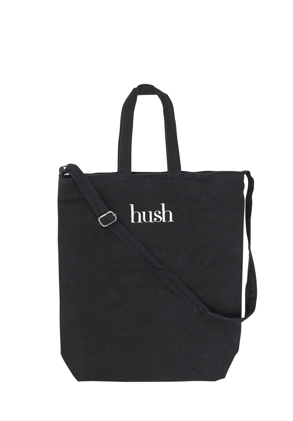 Canvas Shopper - predominant colour: black; occasions: casual; type of pattern: light; style: tote; length: handle; size: standard; material: fabric; finish: plain; pattern: patterned/print; season: s/s 2016; wardrobe: highlight