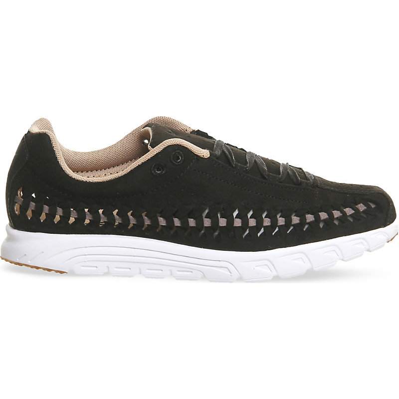 Mayfly Woven Suede Trainers, Women's, 9.5, Black Dark Grey - secondary colour: white; predominant colour: black; occasions: casual, activity; material: suede; heel height: flat; toe: round toe; style: trainers; trends: monochrome; finish: plain; pattern: colourblock; shoe detail: moulded soul; season: s/s 2016
