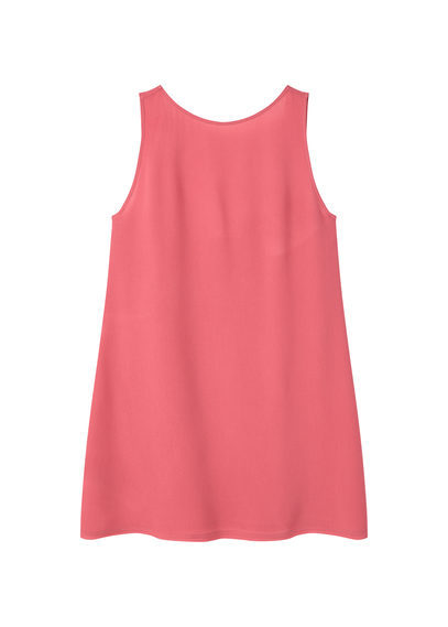 Open Back Dress - style: shift; length: mid thigh; pattern: plain; sleeve style: sleeveless; predominant colour: pink; occasions: evening; fit: body skimming; fibres: viscose/rayon - 100%; neckline: crew; sleeve length: sleeveless; pattern type: fabric; texture group: jersey - stretchy/drapey; season: s/s 2016
