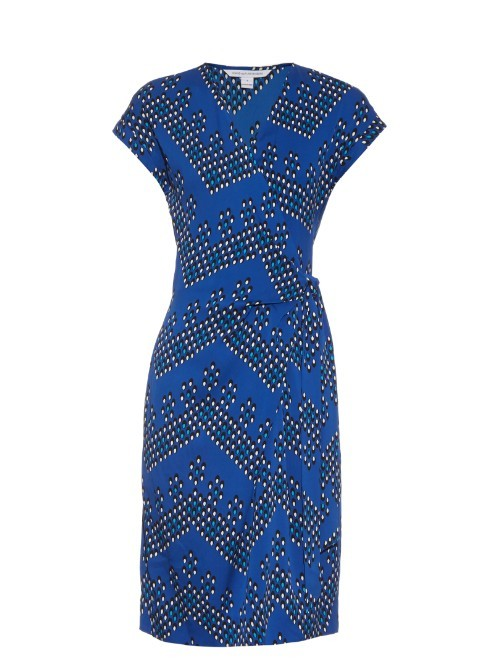 Sascha Dress - style: shift; sleeve style: capped; waist detail: flattering waist detail; predominant colour: royal blue; secondary colour: navy; occasions: evening; length: just above the knee; fit: body skimming; fibres: silk - mix; neckline: crew; sleeve length: short sleeve; pattern type: fabric; pattern: patterned/print; texture group: brocade/jacquard; multicoloured: multicoloured; season: s/s 2016; wardrobe: event