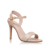 Imogen - predominant colour: nude; occasions: evening, occasion; material: faux leather; heel height: high; heel: stiletto; toe: open toe/peeptoe; style: strappy; finish: plain; pattern: plain; season: s/s 2016; wardrobe: event