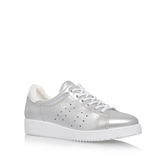 Latitude - predominant colour: silver; occasions: casual; material: leather; heel height: flat; toe: round toe; style: trainers; finish: metallic; pattern: plain; season: s/s 2016; wardrobe: basic
