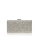 Olivia - predominant colour: silver; secondary colour: silver; occasions: evening, occasion; type of pattern: standard; style: clutch; length: hand carry; size: small; material: faux leather; pattern: plain; finish: metallic; season: s/s 2016; wardrobe: event